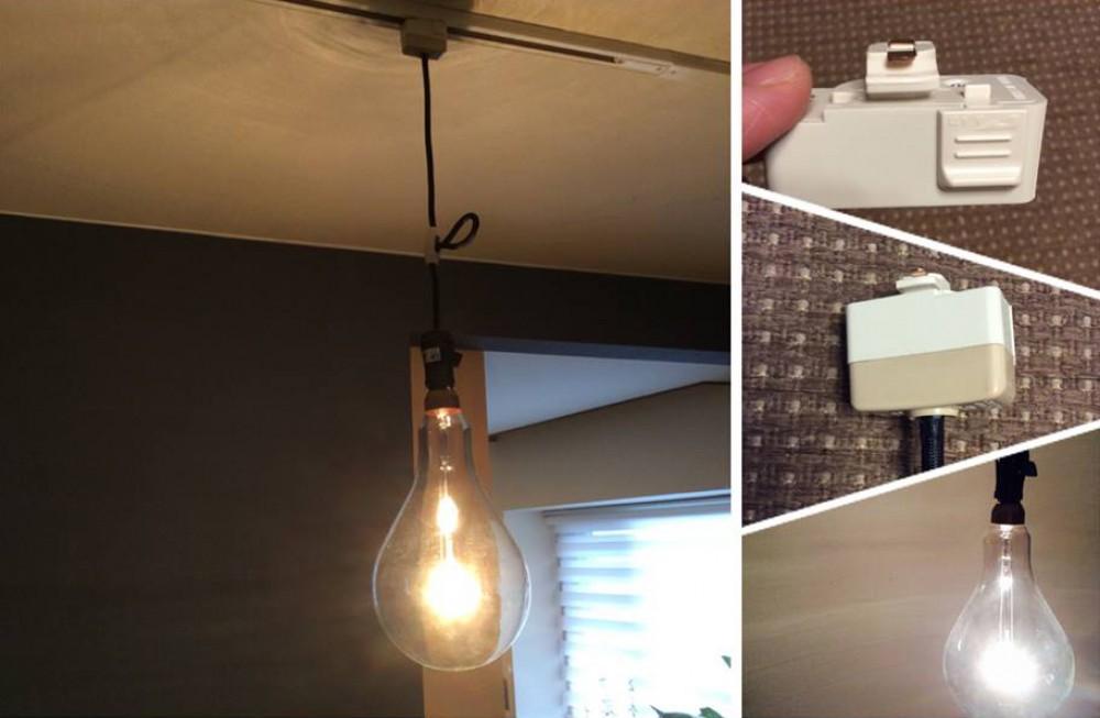 照明のスライドレール工事 -